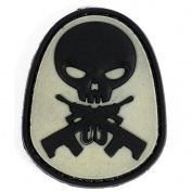 Rebel Tactical RT-GS-BK GUN SKULL Morale Patches