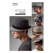Vogue Patterns V8869 Men's Hats Sewing Template, All Sizes