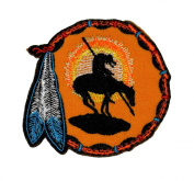 7.1cm x 7.9cm Native American Indian DIY Applique Embroidered Sew Iron on Patch
