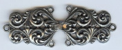A Larger Tele Liten Pewter Cloak Clasp - 8.9cm Long X 3.2cm Tall