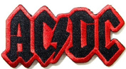 9.5cm X 5.1cm AC/DC ACDC AC DC Heavy Metal Rock Punk Music Band Logo Polo T shirt Patch Sew Iron on Embroidered Costum...