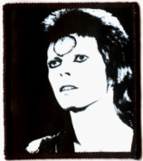 David Bowie - Black & White Face Shot - Sew or Iron On Patch