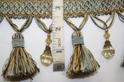 Beaded Tassel Fringe Trim 8.9cm Style# Bf 4027 11/06 Colour Blue/gold/brown
