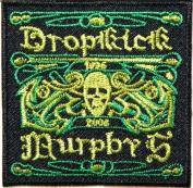 6.4cm x 6.4cm Dropkick Murphys Logo Rock Music Band Jacket T-shirt Patch Sew Iron on Embroidered