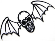13cm X 5.7cm AVENGED SEVENFOLD Skull Bat Heavy Metal Rock Punk Music Band Logo Polo T shirt Patch Sew Iron on Embroidered music patch by Tourlesjours
