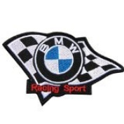 Au89 - BMW Boxer Racing Car Iron on Patch Size 3x3 Inches,7.5x7.5 Cm
