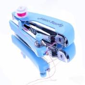 EOZY Mini Blue Handheld Sewing Stitch Portable Handy Machine Kit