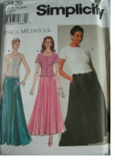 Simplicity Jessica McClintock Evening Dress Party Dress Sewing Pattern 7436 size 18-20-22