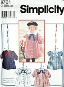SIMPLICITY Sewing Pattern 9701 Little Girl's Double Brested Dress w/ Wax Transfer Included (SIZE 5, 6, 6X) by Oliver Goodin