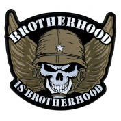 Hot Leathers Brotherhood Skull Patch