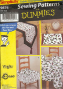 Simplicity 9876 Sewing Pattern makes tablecloth, table runner, chair pads and placemats