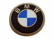 BMW Motorsports Car Logo Patches Gold Embroidered Patch SIZE : 7.6cm