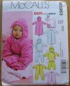 McCall's M5963 Infant's Bunting, Jacket, Jumpsuit, Pants, Blanket & Hat Sewing Pattern NB-L