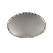 8.9cm Silver Oval Belt Buckle Base
