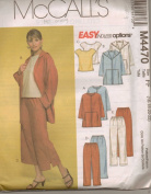 McCall's Pant Suit Pattern Long/Capri Pants Uncut Unused