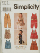 Simplicity Sewing Pattern #7213 : Toddlers' Jumper or Sundress and Romper
