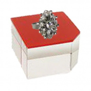 Bevelled Corner Acrylic Jewellery Display Block, Red Finish