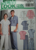HIS & HERS SCRUBS TOPS & PANTS SIZE XS-XL (BUST/CHEST 30-120cm ) NEW LOOK PATTERN 6307