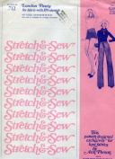 Stretch & Sew Pattern 712 ~ Misses' London Pants and Shorts ~ Hip 32-44