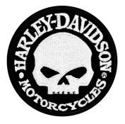 Harley-Davidson Hubcap Skull Small Patch, 10cm W x 10cm H EM1029882