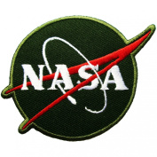 NASA Logos Iron on Patches #Green