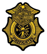 Harley-Davidson Firefighter Gold Patch, Small 7.6cm - 1.3cm W x 10cm H EM1265172