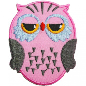 Cute Owl Iron on Patches #Pink