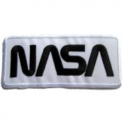 NASA Badge Iron on Patches #White