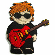 Guitar Rocker, Iron on Patches Rockstar