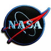 NASA Logos Iron on Patches #Black