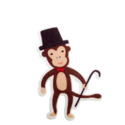 Monkey DIY Applique Printed Felt Iron on Patch