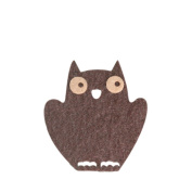 Owl DIY Applique Printed Felt Iron on Patch #Black