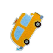 Yellow Taxi DIY Applique Printed Felt Iron on Patch