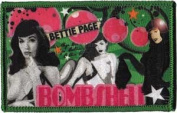 Novelty Iron on Patch - Page Bettie Bombshell in Stalkings Art Applique