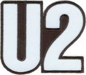 U2 Music Band Patch - Silver Full Logo - Applique