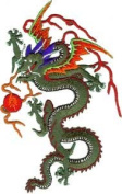 Dragons - Chinese Fire Breathing Green Mystical Dragon Logo Patch