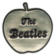 The Beatles Music Band - Silver Apple Name Logo Patch