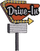 Novelty Iron on - 50'S Drive In Logo Patch