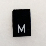 Size M (Medium) Black Woven Clothing Size Labels