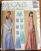 McCall's 3571 Sewing Pattern ~ Evening Elegance Misses' Lined Tops and Skirts, Evening Gowns, Prom, Bridesmaid, Sizes 6-8-10