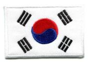Flag of South Korea Korean Applique Iron-on Patch Medium S-105 Handmade Design From Thailand