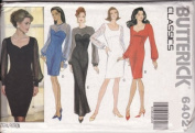 Butterick 6402 Misses' / Misses' Petite Dress with Sheer Sleeves, Size 6 8 10 12