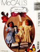McCALL'S 5324 ~ Little Girl's Dress, Purse & Matching Doll Dress (Size 5) SEWING PATTERN