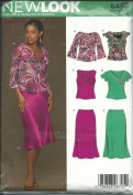New Look 6438 Sewing Pattern Misses Top and Skirt Size 8-18