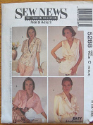 Sew News McCall's 5288 Sewing Pattern - Misses' Blouses, Sizes 10, 12, 14