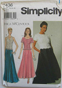 Simplicity 7436 Sewing Pattern Jessica McClintock Misses' Dress, Size P 12-14-16