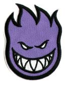 Spitfire Wheels Skateboard Patch - Iron / Sew On - Purple Bighead 8 x 5cm New