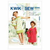 Kwik Sew K3905 Abigail and Little Abby Made to Match Dresses Sewing Pattern, Size XS-S-M-L-XL Doll