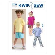 Kwik Sew K3149 Shirts Sewing Pattern, Pants and Shorts