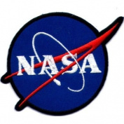 Nasa Space Blue Shuttle Appliques Hat Cap Polo Backpack Clothing Jacket Shirt DIY Embroidered Iron On / Sew On Patch #3